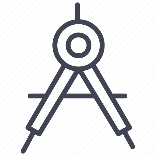 compass, design, education, equipment, geometry, tool, tools icon