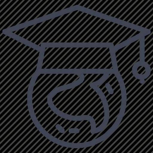 education, global, learning, school, study, world icon