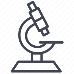 chemistry, education, laboratory, microscope, research, science icon