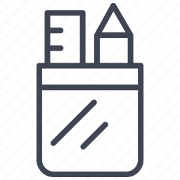 case, edit, education, pen, pencil, write icon