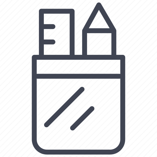 case, edit, education, pen, pencil, write icon