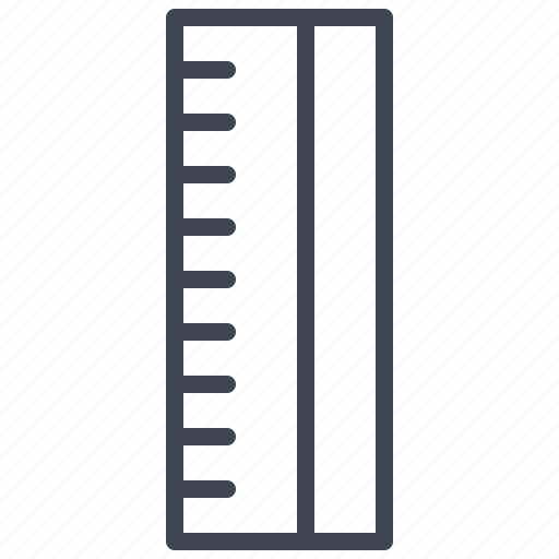 design, education, measure, ruler, shape icon