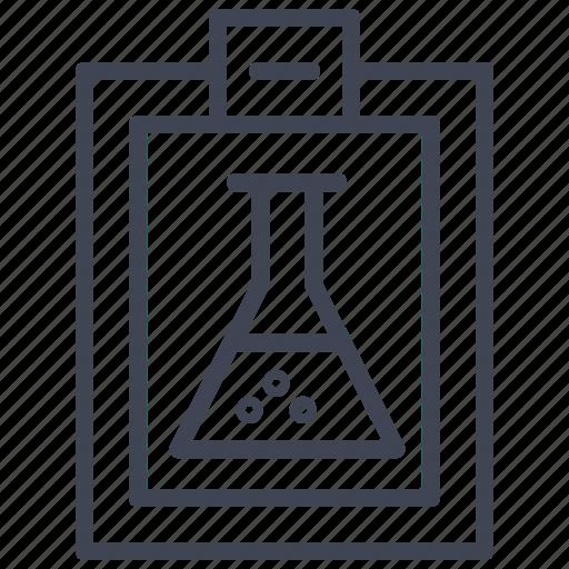 clipboard, education, graph, presentation, science icon