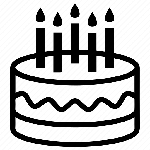 birthdate, birthday, cake, candle, candles, gift, party icon