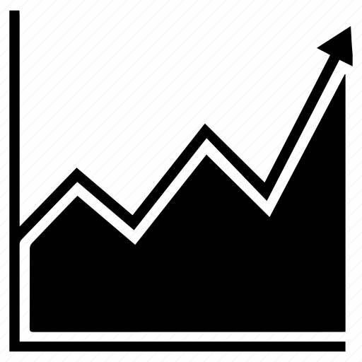 economy, graph, growing, growth icon