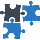 business, education, puzzle, strategy icon