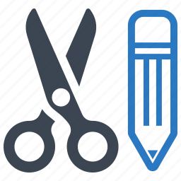 graphic design, pencil, school supplies, scissors icon