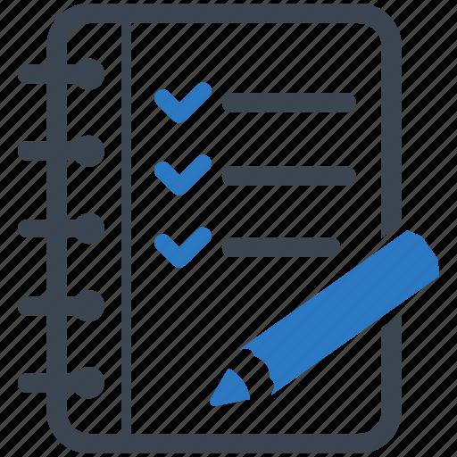 check mark, checklist, education, tasks, to do list icon