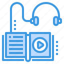 audio, book, education, learning, school, student, study icon