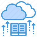 cloud, education, learning, library, school, student, study icon