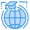 education, global, learning, school, student, study icon