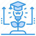 education, graduate, learning, school, student, study icon
