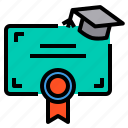 certificate, education, learning, school, student, study icon