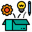 box, education, idea, learning, school, student, study icon