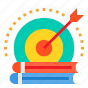 book, education, goal, learning, school, student, target icon