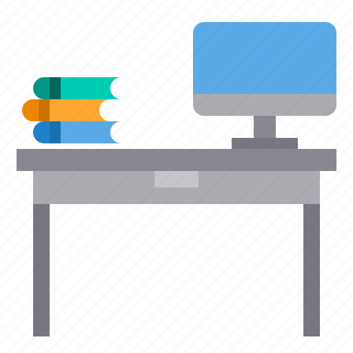desk, education, learning, school, student, study icon