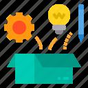 box, education, idea, learning, school, student, study icon