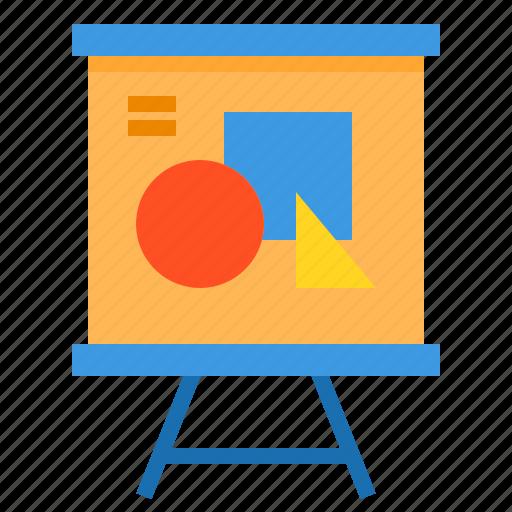 education, learning, presentation, school, student, study icon