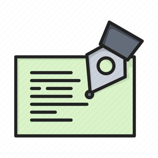 edit, education, pen, redact, text, writing icon
