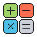 calc, calculate, mathematics, maths icon