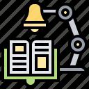 desk, lamp, library, reading, study