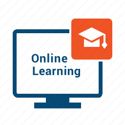 cources, distance, education, elearning, learning, monitor, online, remote, training, webinar icon