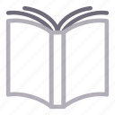 book, education, knowledge, reading, studying icon