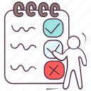 educational document, exam sheet, test notepad, test paper, test sheet icon