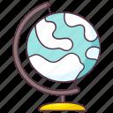 earth globe, geographical globe, globe, globe map, planet map icon