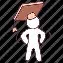 academic cap, graduation cap, mortar board, mortar cap, student hat icon