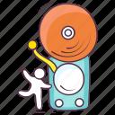 alarm bell, hand bell, notification bell, ringing bell, school bell icon