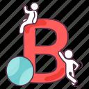 b, b letter, basic education, english alphabet, english letter icon