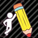 color pencil, compose button, drawing pencil, pencil, sketching pencil icon