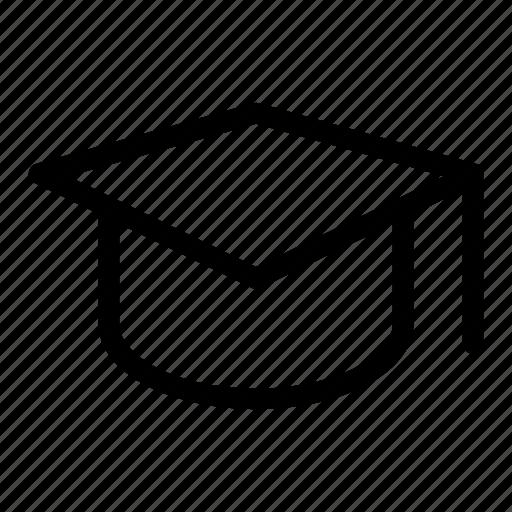 cap, certificate, degree, graduation, hat icon