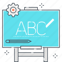 blackboard, chalk, classroom, learn, seminar, students, teacher icon