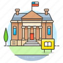 building, education, high, highschool, institution, instruction, school, secondary icon
