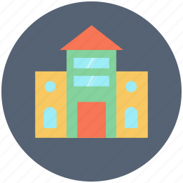 building, education building, school, school building icon icon