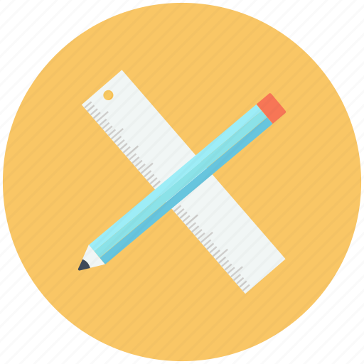 edit, pen, pencil, ruler, tool, write icon icon