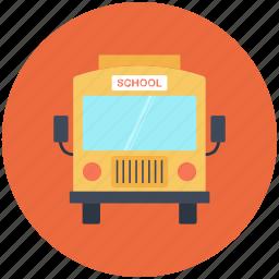 autobus, bus, bus school, school, school bus icon icon