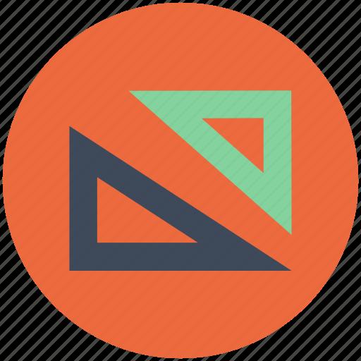 architect tools, drawing, geometric, geometrical tools, mathematic tools icon icon