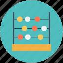 abacus, calculator, education, math icon