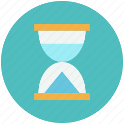 glass, hourglass, loading, time, view icon icon