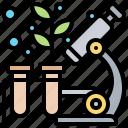 botany, laboratory, microscope, science, biology icon