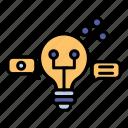 bulb, creativity, idea, innovation, light, think