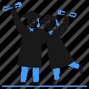 graduation, cap, mortarboard, education, college, school, student, celebration, title icon