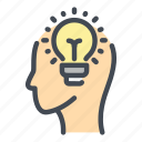 head, idea, light, bulb, creativity, innovation, creative