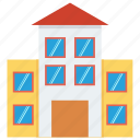 building, college, college building, education, school, school building, structure icon icon