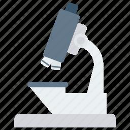 biological, lab, laboratory, medical, microscope, research, science icon, scientific icon