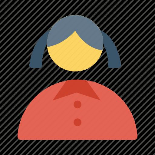 avatar, female, girl, profile, student, teacher, user icon icon