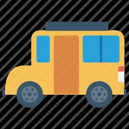 bus, school bus, school icon, transport, van icon